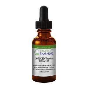 Candropharm100 CBD 10% CBD-Tropfen auf Ölbasis THC frei