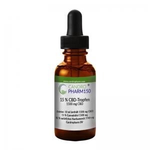 Candropharm150 CBD 15% CBD-Tropfen auf Ölbasis THC frei