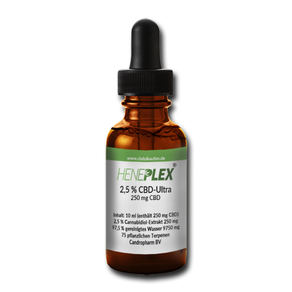Candropharm Heneplex 2,5% CBD-Tropfen of Wasserbasis THC frei