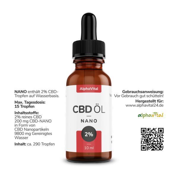 AlphaVital CBD Öl 25% Vollspektrum | enthält 2500 mg CBD (10 ml)