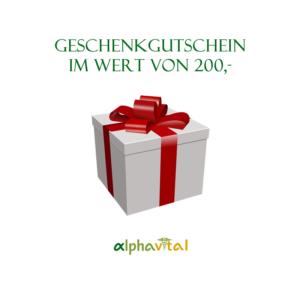 AlphaVital Geschenkgutschein 200,-