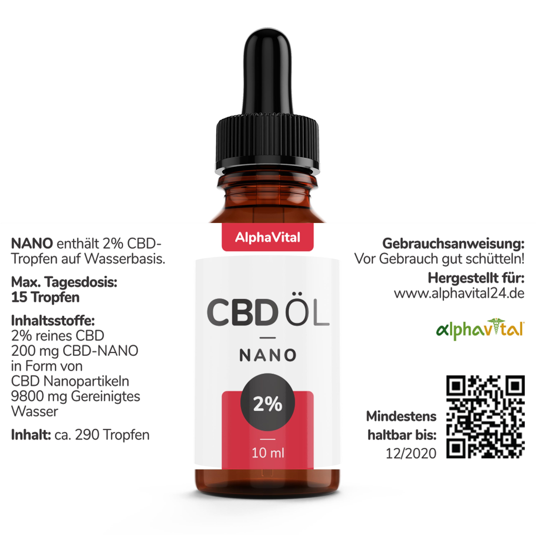AlphaVital NANO 200 mg Liposomales CBD THC frei