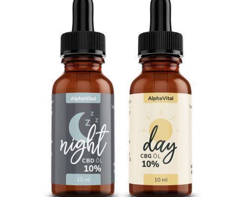 AlphaVital Night & Day   CBD/CBG ÖL 10%   Vollspektrum   2 Flaschen á 10 ml